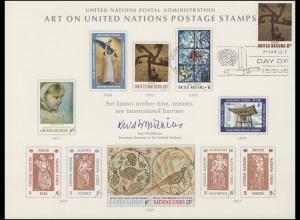 UNO Erinnerungskarte EK 2 Kunstwerke für die UNO 1972, NY-FDC 17.11.1972