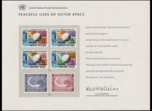 UNO Erinnerungskarte EK 7 Weltraum 1975, ungebraucht **