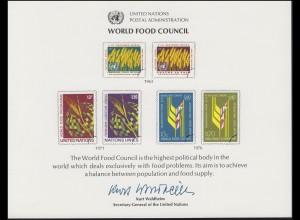 UNO Erinnerungskarte EK 10 Welternährungsrat (WFC) 1976, ungebraucht **