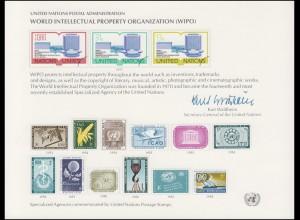 UNO Erinnerungskarte EK 11 Geistiges Eigentum 1977, ungebraucht **