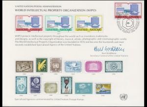 UNO Erinnerungskarte EK 11 Geistiges Eigentum 1977, Genf-FDC 11.3.1977