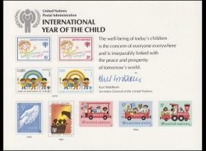 UNO Erinnerungskarte EK 15 Jahr des Kindes 1979, ungebraucht **