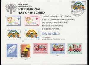 UNO Erinnerungskarte EK 15 Jahr des Kindes 1979, Genf-FDC 4.5.1979
