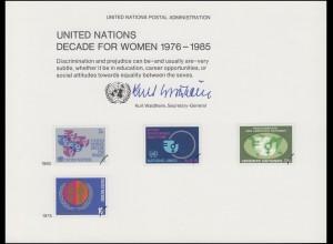 UNO Erinnerungskarte EK 17 Frauendekade 1980, ungebraucht **