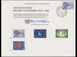 UNO Erinnerungskarte EK 17 Frauendekade 1980, NY-FDC 7.3.1980