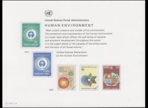 UNO Erinnerungskarte EK 21 Umweltschutz 1982, ungebraucht **
