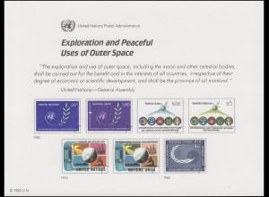 UNO Erinnerungskarte EK 22 Weltraum 1982, ungebraucht **