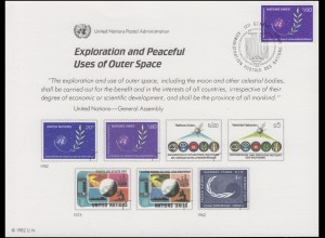 UNO Erinnerungskarte EK 22 Weltraum 1982, Genf-FDC 11.6.1982