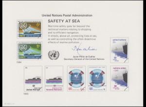 UNO Erinnerungskarte EK 23 Sicherheit auf See 1983, ungebraucht **