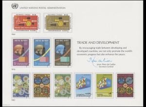 UNO Erinnerungskarte EK 24 Handel und Entwicklung 1983, ungebraucht **