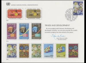 UNO Erinnerungskarte EK 24 Handel und Entwicklung 1983, NY-FDC 6.6.1983