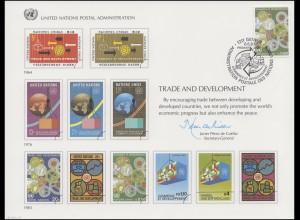 UNO Erinnerungskarte EK 24 Handel und Entwicklung 1983, Genf-FDC 6.6.1983