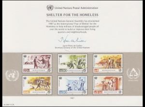 UNO Erinnerungskarte EK 31 Menschenwürdiges Wohnen 1987, ungebraucht **