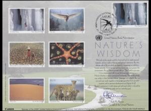 UNO Erinnerungskarte EK 60 Weisheit der Natur 2005, NY-FDC 21.4.2005