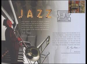 UNO Erinnerungskarte EK 69 Tag des Jazz 2014, Genf-FDC 30.4.2014