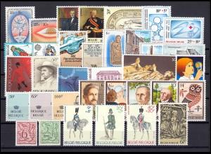2050-2085 Belgien-Jahrgang 1981 komplett, postfrisch