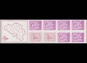Belgien-Markenheftchen 18 Löwe und König Baudouin 20 Franc 1969, **