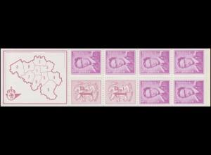 Belgien-Markenheftchen 18 Löwe und König Baudouin 20 Franc mit Zählbalken **