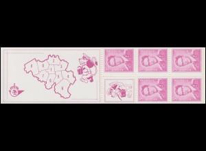 Belgien-Markenheftchen 19 König Baudouin 15 Franc 1969, **