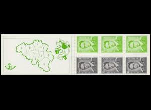 Belgien-Markenheftchen 20 König Baudouin 15 Franc 1970, **