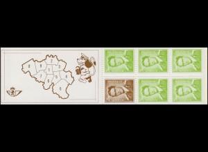 Belgien-Markenheftchen 21 König Baudouin 20 Franc 1970, **