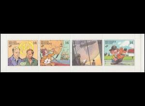 Belgien-Markenheftchen 33 Comics 56 Franc 1991, **