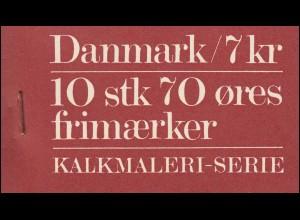 Dänemark Markenheftchen 24 Kalkmalereien Kalkmaleri-Serie, ** postfrisch