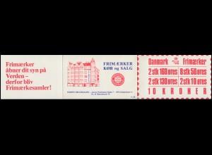 Dänemark Markenheftchen 28 Ziffern und Königin Margrethe 1981, ** postfrisch