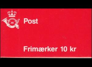Dänemark Markenheftchen 37 Ziffern und Königin Margrethe C8, ** postfrisch