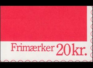 Dänemark Markenheftchen 40 Ziffern und Königin Margrethe H33, ** postfrisch