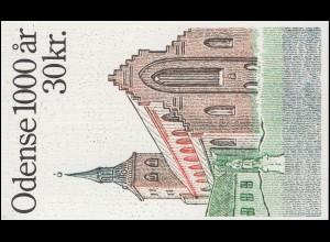 Dänemark Markenheftchen 917 Stadt Odense: St.-Knut-Kirche, ** postfrisch