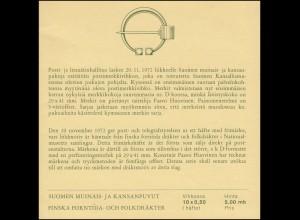 Finnland Markenheftchen 6 Trachten, ** postfrisch