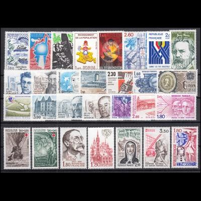 2299-2373 Frankreich Jahrgang 1982 komplett, postfrisch