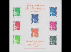 3557-3592 Freimarken Marianne Luquet 2002, Kleinbogen mit 8 Werten **