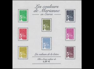 3557Ix-3714Ix Freimarken Marianne Luquet 2003, Kleinbogen mit 8 Werten **