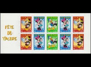 Markenheftchen 63 Fest der Briefmarke Walt-Disney Mickey / Minnie / Donald, **