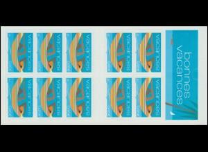 Markenheftchen 3631 Grußmarke: Schöne Ferien - Hängematte, selbstklebend, **