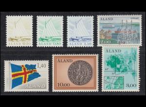 1-7 Aland-Jahrgang 1984 komplett, postfrisch **