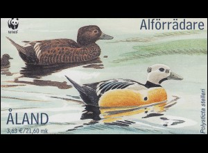 Aland-Markenheftchen 9 WWF Naturschutz Scheckente, postfrisch **