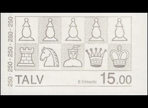 Färöer-Inseln Markenheftchen 1 Schachfiguren - König und Dame, ** postfrisch