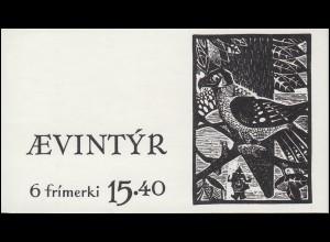 Färöer-Inseln Markenheftchen 2 Märchen-Illustrationen, ** postfrisch