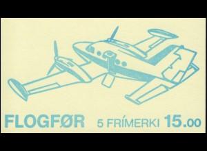 Färöer-Inseln Markenheftchen 3 Flugzeuge, ** postfrisch