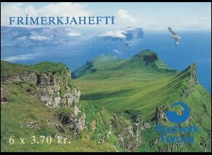 Färöer-Inseln Markenheftchen 4 Seevögel - Schwalbe und Möve , ** postfrisch