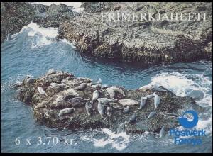 Färöer-Inseln Markenheftchen 5 Seehunde, ** postfrisch