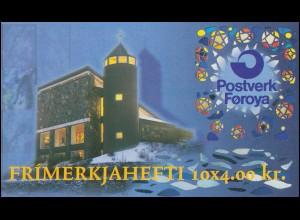 Färöer-Inseln Markenheftchen 10 Katholische Kirche, ** postfrisch