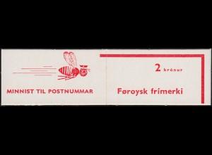 Färöer-Inseln Markenheftchen mit Freimarken 1975, ** postfrisch