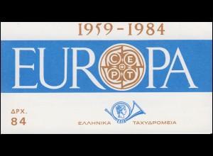 Griechenland Markenheftchen 1 Europa 1984, ** postfrisch