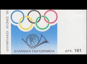 Griechenland Markenheftchen 2 Olympia Los Angeles, ** postfrisch