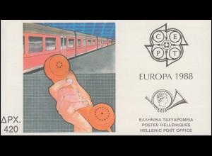 Griechenland Markenheftchen 8, Europa 1988, ** postfrisch