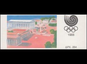 Griechenland Markenheftchen 9 Olympia Seoul, ** postfrisch